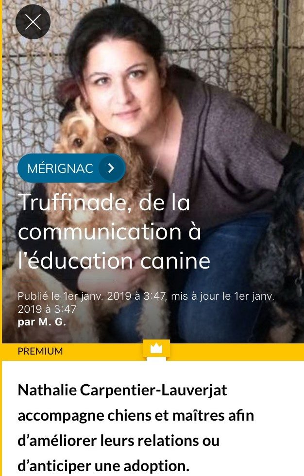 photo article TRUFFINADE e1547201690689 - Truffinade, de la communication à l'éducation canine